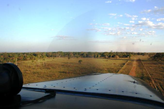 Chegando na pista da Aguapé