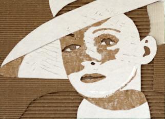 """Os """"portraits"""" de GILES OLDERSHAW com sobras de papelão.  Confira!"""