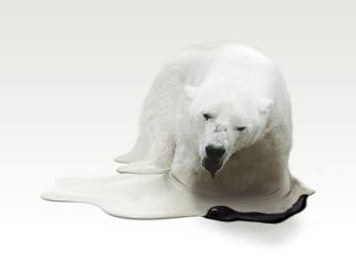 Esculturas criadas pelo artista  japones Takeshi Kawano para chamar a atenção para as consequências do aquecimento global...