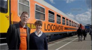 Trem    alemão  é   movido  a   energias    renováveis   e  no  serviço de  bordo ,  só   alimentos orgânicos. Confira!