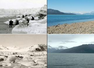 Segundo relatório da Noaa, as geleiras continuam encolhendo ... O registro de temperaturas começou a ser feito em 1880. Separamos algumas imagens registradas pela Nasa, tiradas na mesma época do ano. As mudanças são impressionantes! Confira!