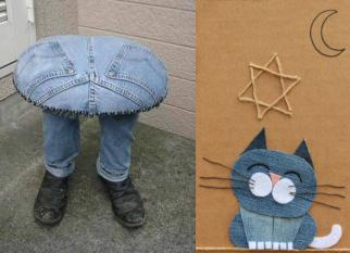 Recriando os velhos jeans ..... Confira!