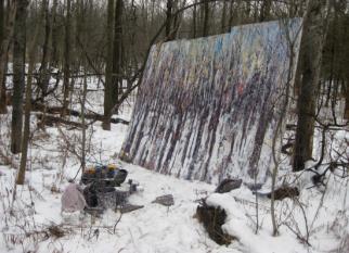 As florestas e outras paisagens do artista canadense Jim Reid,  feitas ao ar livre nas escarpas da Catarata do Niagara, onde mora.