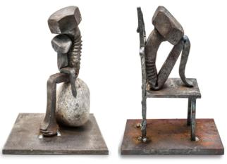 Parafusos velhos, enferrujados se transformaram em arte pelas mãos do sueco Tobbe Malm