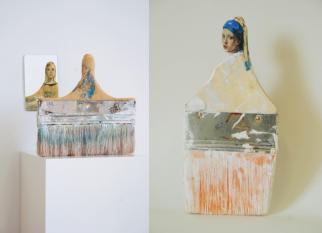 A artista Rebecca Szeto, transformou pincéis em obras inspiradas em mulheres do período da Renascença.