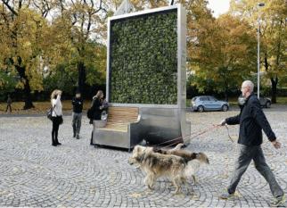 CityTree, uma parede verde de alta tecnologia que  filtra as partículas nocivas  que estão no ar. Tem o mesmo efeito de 275 árvores urbanas. Confira!