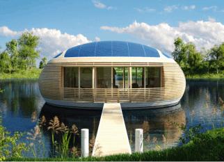 """O nome já é interessante – """"Ninho de Água"""". É como se chama o projeto dessa eco- casa flutuante, projetada para ser  usada como residência ou escritório. Nada mal trabalhar em um lugar como esse! Confira!"""