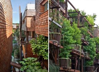 """Prédio que se funde com 150 árvores. """" É uma resposta a uma questão que infelizmente não foi feita há muitos anos. A natureza pode viver em harmonia numa paisagem urbana."""" Confira!"""