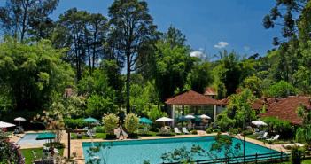 Uma das piscinas