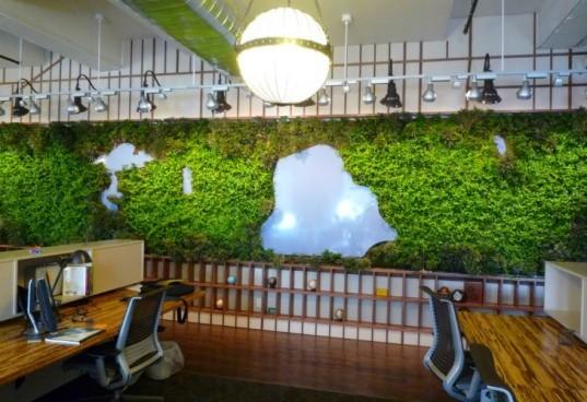 Projeto da OpenPlans  traz uma réplica  Central Park Decora no Office Wall da NYC.  Desempenhou um papel fundamental na certificação LEED Gold do escritório.